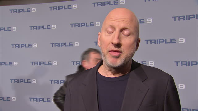 Shows Interior shots Director John Hillcoat on filming Triple 9 and Oscars diversity on February 09 2016 in London England