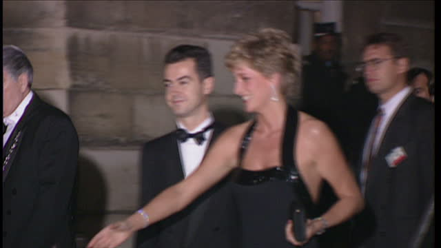 shows interior shots exhibition of diana's dresses at kensington palace. interior shots said cyrus design studio and interview with designer said... - princess stock videos & royalty-free footage