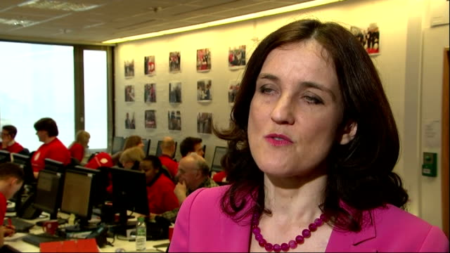 shows interior shots interview soundbite british mp and secretary of state for northern ireland theresa villiers on need for change and voting to... - 2016 european union referendum stock videos and b-roll footage