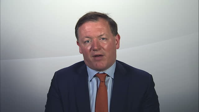stockvideo's en b-roll-footage met shows interior shots interview soundbite with conservative mp damian collins speaking on need for the football association to reform it's governing... - english football association