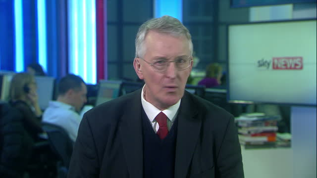 shows interior shots interview with labour mp and brexit committee chair hilary benn speaking on government plans for brexit timetable the prime... - hilary benn stock-videos und b-roll-filmmaterial