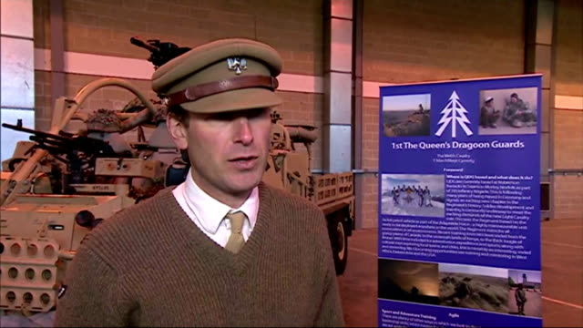 shows interior shots interview with lieutenant colonel dan duff, on the move from germany to norfolk. prince charles toured new home of queen's... - イーストアングリア点の映像素材/bロール