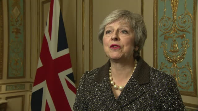 Shows interior shots interview with UK Prime Minister Theresa May speaking on talking to European leaders about conessions to agreed Brexit deal and...
