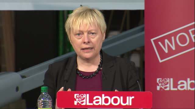 shows interior shots labour mp and shadow secretary for business innovation and skills angela eagle speech on european union and eu referendum jeremy... - 2016 european union referendum stock videos and b-roll footage
