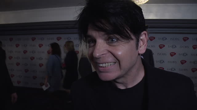 shows interior shots musician gary numan interview on on 50th anniversary of sgt pepper album and inspiration 18th may 2017 in london england - gary numan stock videos & royalty-free footage