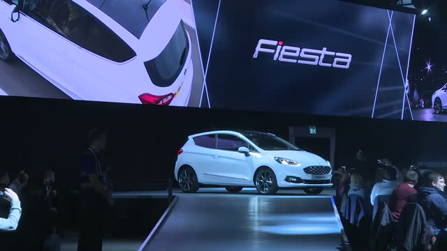 shows interior shots new model of the ford fiesta being unveiled at ford show in cologne germany interior shots ford's production line at dagenham... - impact stock videos and b-roll footage