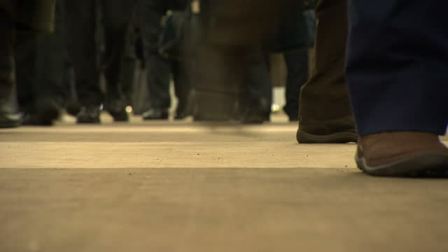 Shows interior shots people walking around the lobby of conference centre for World Economic Forum on January 22 2015 in Davos Switzerland