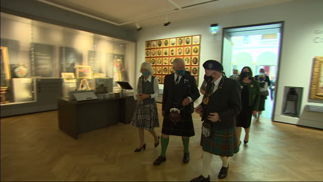 GBR: Prince Charles and Camilla open the redeveloped Aberdeen Art Gallery