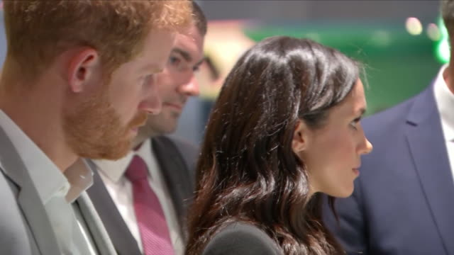 Shows interior shots Prince Harry Duke of Sussex and Meghan Duchess of Sussex at Croke Park home of Ireland's largest sporting organisation the...