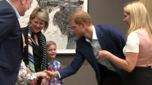 shows interior shots prince harry meets family members of competitors as he visits true patriot love symposium at scotia plaza on day 1 of the... - 2017 stock videos & royalty-free footage