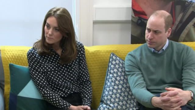 shows interior shots prince william, duke of cambridge, and catherine , duchess of cambridge meeting young people, staff, parents and campaigners at... - dublin republic of ireland stock videos & royalty-free footage