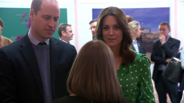 shows interior shots prince william, duke of cambridge, and catherine , duchess of cambridge, watching and meeting galway community circus... - western european culture stock videos & royalty-free footage