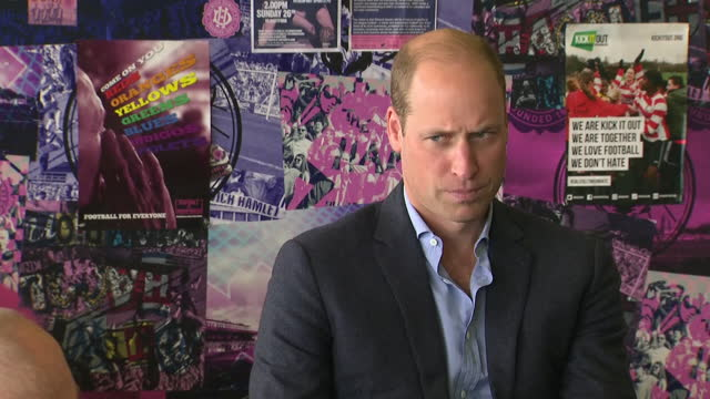 GBR: Prince William shows his support for grassroots football on visit to Dulwich Hamlet football club