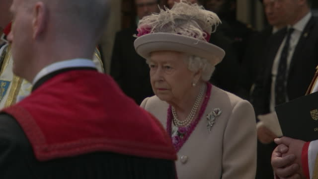 GBR: Queen Elizabeth II & Duchess of Cornwall attends 750th Anniversary Service at Westminster Abbey