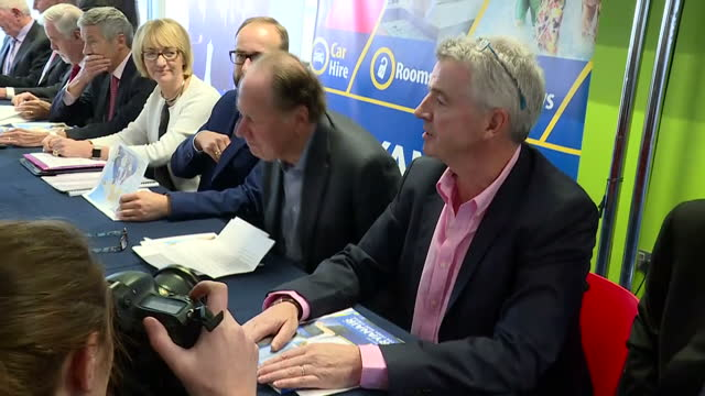shows interior shots ryanair's boss michael o'leary arriving for ryanair's agm meeting ryanair stockholders are meeting at the company's annual... - annual general meeting stock videos & royalty-free footage