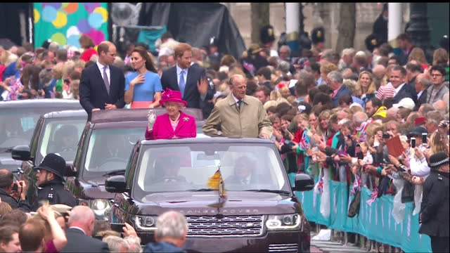 shows interior shots school child asking prince harry question about being king on his tour of new zealand in 2015 exterior shots royal family... - 90th birthday stock videos and b-roll footage