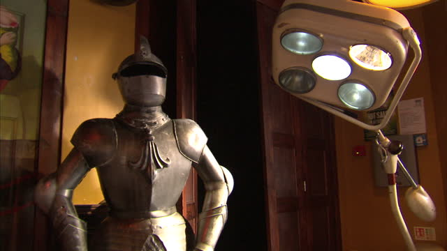 shows interior shots suit of armour used for decoration in a pub on december 12 2016 in london england - suit of armour stock videos and b-roll footage