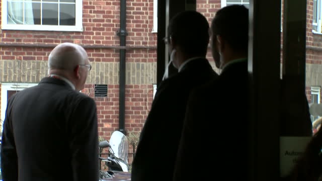 Shows interior shots the Duchess of Cambridge arriving in car being greeted at the front door by staff on January 16 2015 in London England