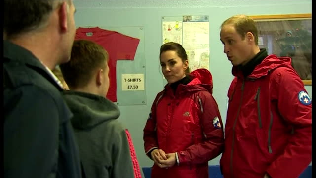 Shows interior shots the Duke Duchess of Cambridge speaking to young people at Towers outdoor education centre on November 20 2015 in Capel Curig...