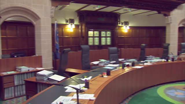 shows interior shots the supreme court room on december 08 2016 in london england - 裁判所点の映像素材/bロール