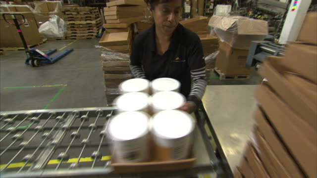Shows interior shots Thrive food canning production line packaging on October 16 2014 in Salt Lake City UT
