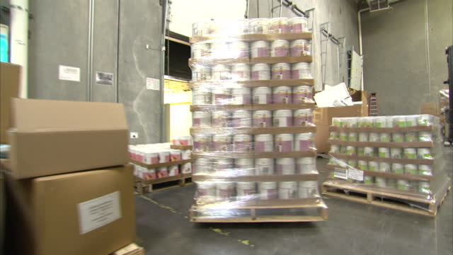 Shows interior shots Thrive food packed up taken into the back of a lorry on October 16 2014 in Salt Lake City UT