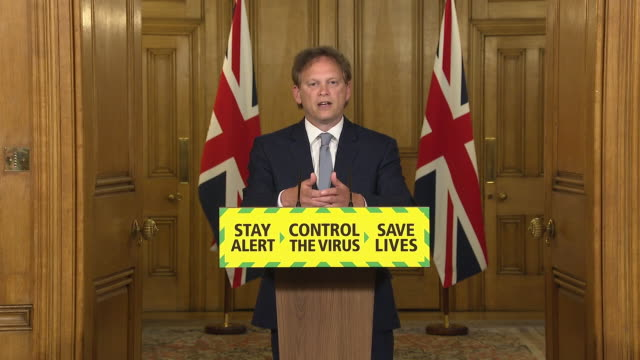 GBR: Grant Shapps speaks at daily government coronavirus press briefing