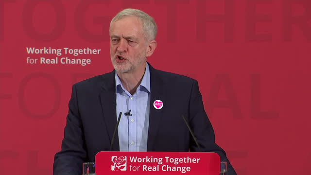 shows interior shots uk labour leader jeremy corbyn speaking on labour's pledges to uphold all human rights. it was billed as a speech where the... - human back stock videos & royalty-free footage