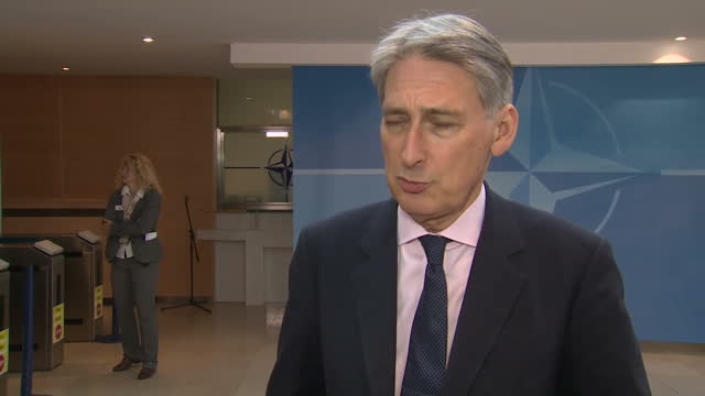 Shows interior shots UK's Foreign Secretary Philip Hammond soundbite on British National who was on board EgyptAir Flight MS804 and British offers of...