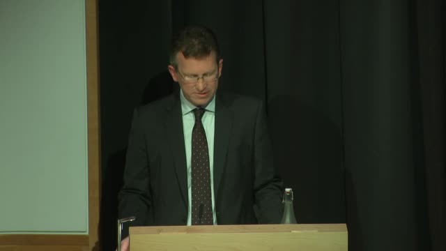 shows interior shots uk's secretary of state for digital culture media and sport jeremy wright mp giving speech presenting findings of white paper... - big tech stock videos & royalty-free footage