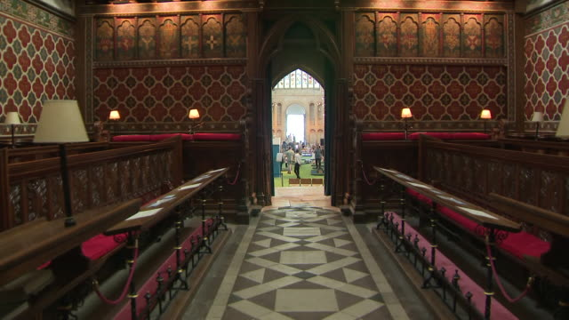 shows interior shotspeople playing on mini golf course set up in nave of rochester cathedral church is supposed to be a place of worship but staff at... - place of worship stock videos & royalty-free footage
