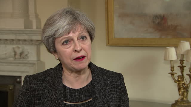 shows interior shtos interview with uk prime minister theresa may speaking on ordering a public inquiry into grenfell tower fire survivors of the... - theresa may stock-videos und b-roll-filmmaterial