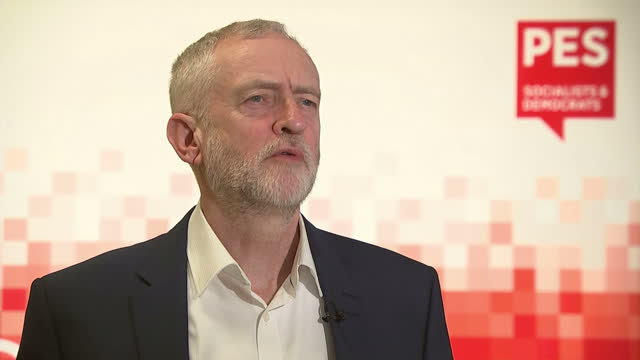 shows interior soundbite with labour leader jeremy corbyn on eu reform negotiations david cameron has spent months trying to get the 27 other leaders... - european union stock videos & royalty-free footage
