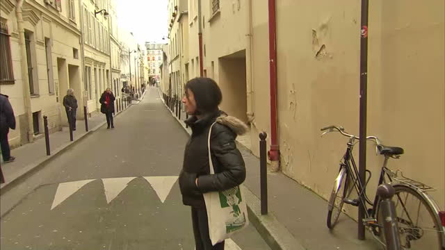 shows interview with lydia berkennou on surviving bataclan theatre terror attack and returning to paris interior shots lydia packing belongings... - metal clip stock videos and b-roll footage