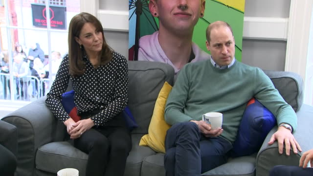 shows intterior shots prince william, duke of cambridge, and catherine , duchess of cambridge meeting young people, staff, parents and campaigners at... - dublin republic of ireland stock videos & royalty-free footage