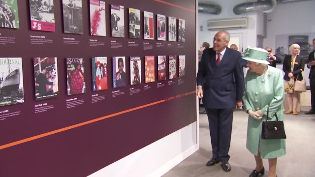 shows queen elizabeth ii visiting a replica of one of the original sainsbury's stores in covent garden to mark the 150th anniversary of the... - chain store stock videos & royalty-free footage