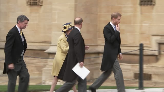 Shows royal guests departing after wedding of Lady Gabriella Windsor Guests included Sarah Ferguson Duchess of York Princess Beatrice and Edoardo...