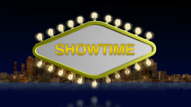 showtime sign - broadway show stock videos and b-roll footage