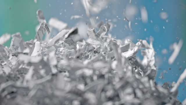 slo mo shredded paper falling down - document stock videos & royalty-free footage