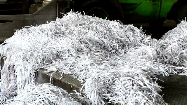 PAN Shredded Paper Prepared For Recycling Process