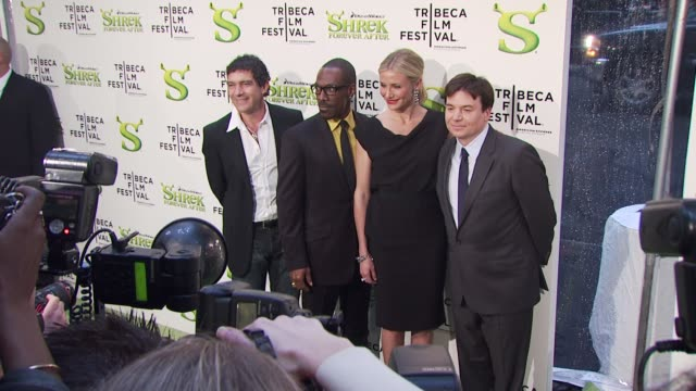 'shrek forever after' opening night premiere 9th annual tribeca film fest new york ny united states 4/21/10 - mike myers actor stock videos & royalty-free footage