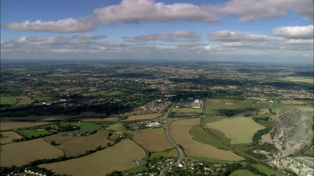 vídeos y material grabado en eventos de stock de shrewsbury-vista aérea-inglaterra, del condado de shropshire, reino unido - shrewsbury