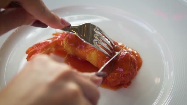 shrimp cocktail on dinner - prawn stock videos & royalty-free footage