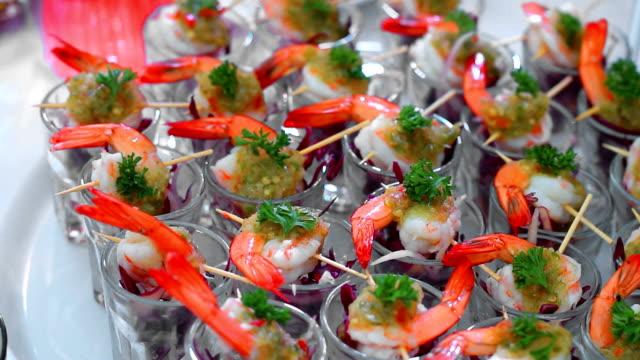 shrimp cocktail - Video Stock