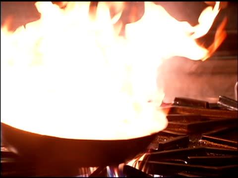 Shrimp cooking in skillet