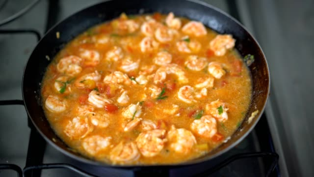 shrimp risotto - mesquita stock videos & royalty-free footage