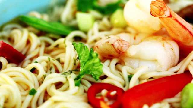 shrimp soup - chilli pepper stock videos & royalty-free footage