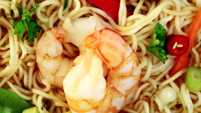 shrimp soup - bowl stock videos & royalty-free footage