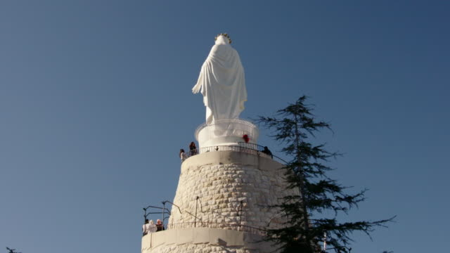 shrine of our lady of lebanon, beirut - christianity stock videos & royalty-free footage