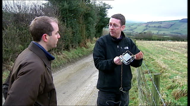gamekeepers using illegal traps to kill birds of prey day mark thomas explaining to reporter how trap / snare works sot close slow motion shot of... - twig stock videos and b-roll footage